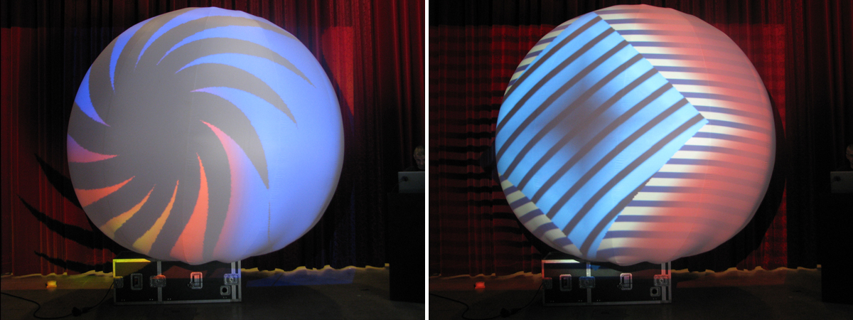 Inflatable Projection Sphere: measuring up to 6 meters in