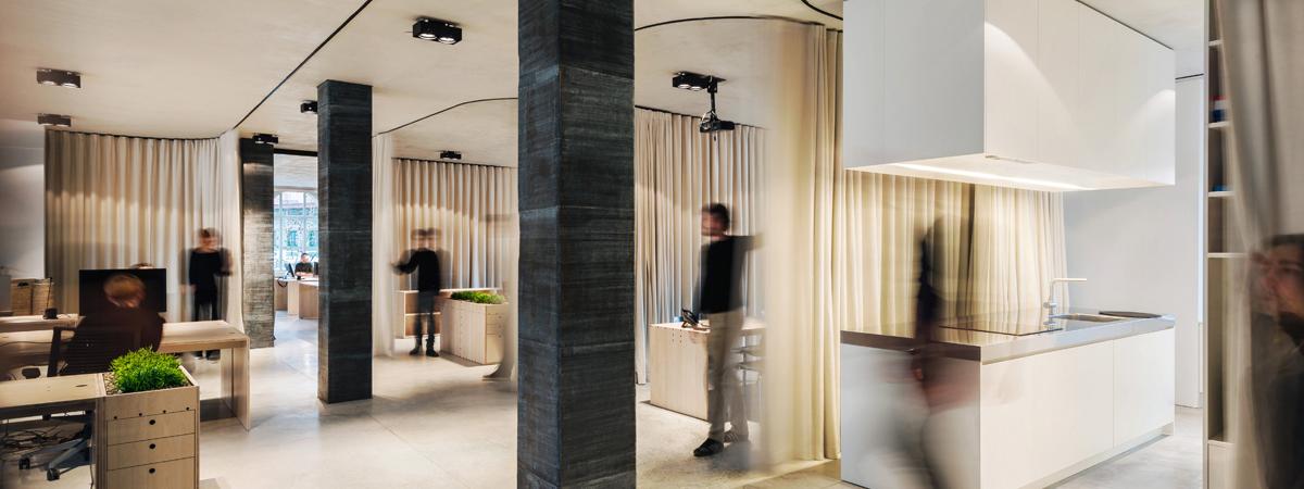 Un Curtain Office ShowTex