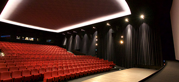 Black drapes surrounding Cinema Gran Rex