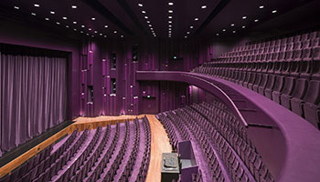 Purple theatre drapes and interior