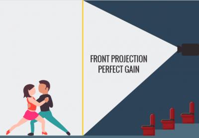 PepperScrim met frontprojectie voorbeeld
