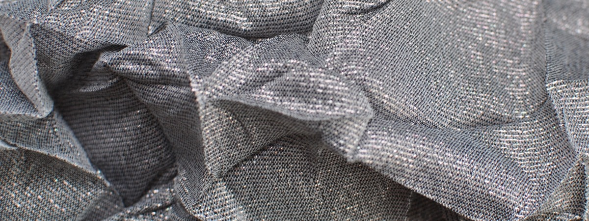 Metallic Spark Crunch - glitter fabric