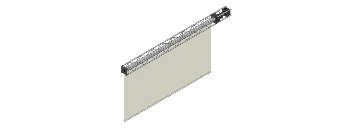 HiSpeed RollScreen 8000 - roll-up projection screen
