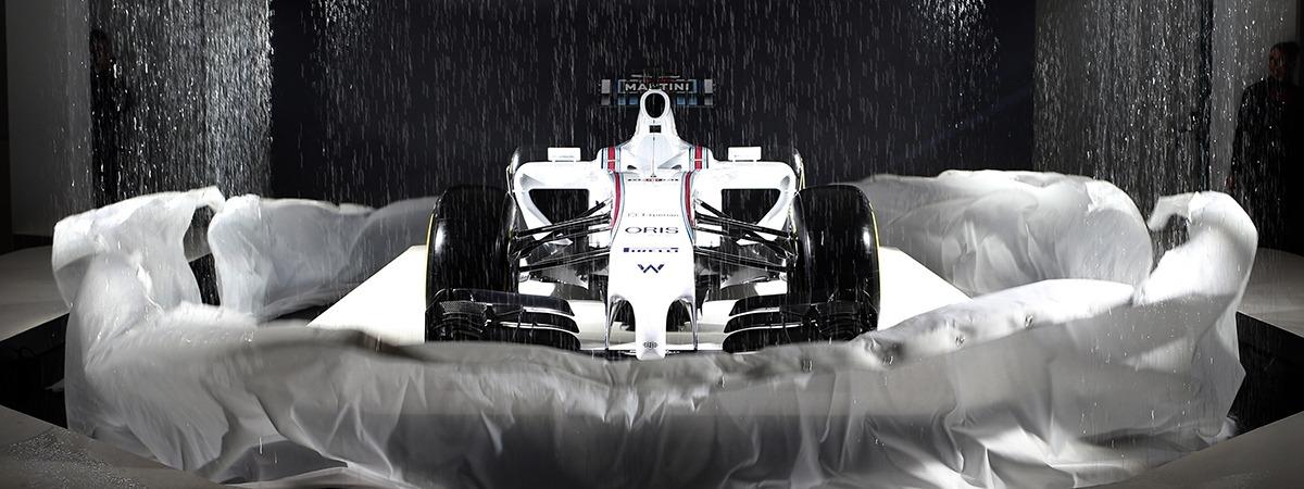 Kabuki effect unveiling a race car