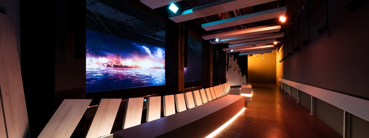 Bicentennial Experience Singapore - Gobelintulle - gauze - projection - acoustic textiles