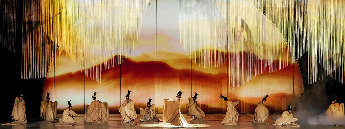 Chinese Valentine Show - string curtains