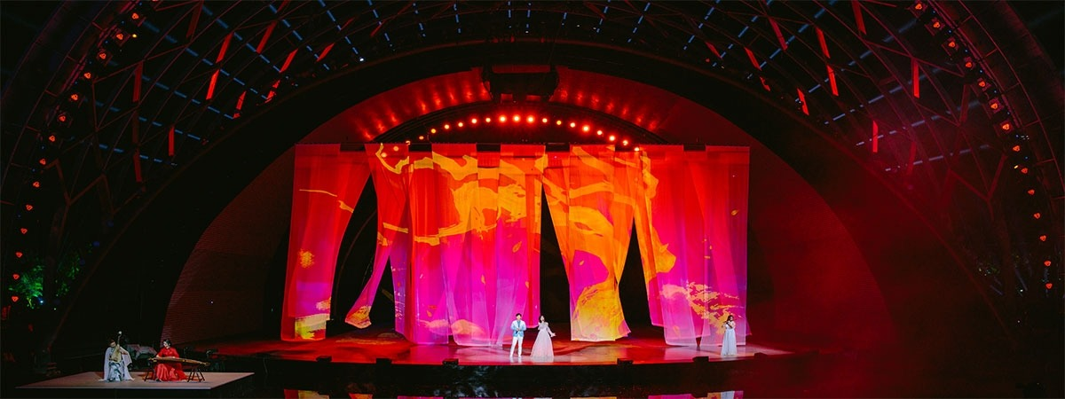 Chinese Valentine Show - projection voile