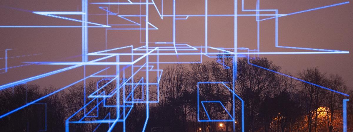 Cielorama - outdoor 3D hologram scrim