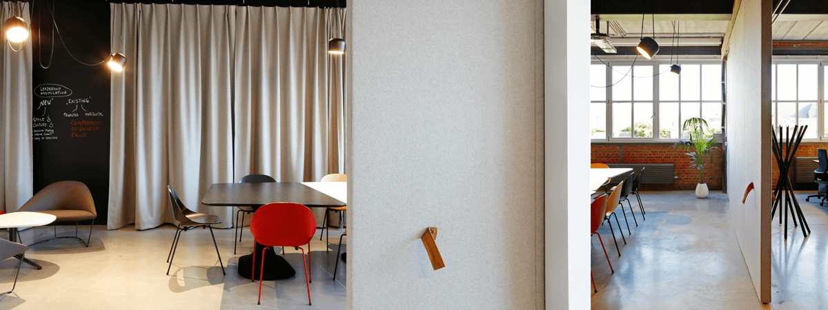 Dok Gent Acoustic Wool Serge Panne Curtains