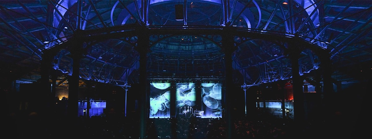 FKJ Tour - projection on black voile