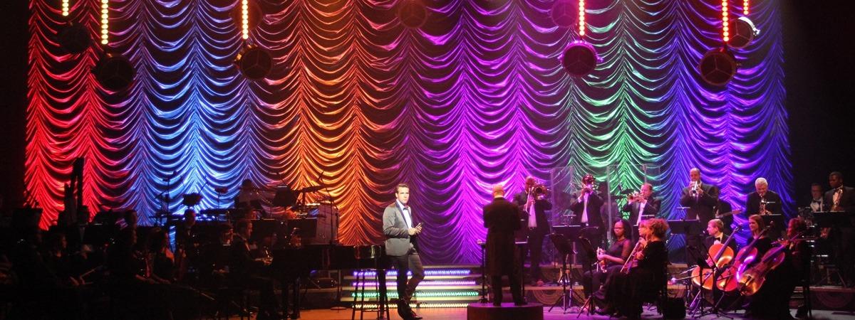Jonathan Roxmouth Satinac festoon curtain