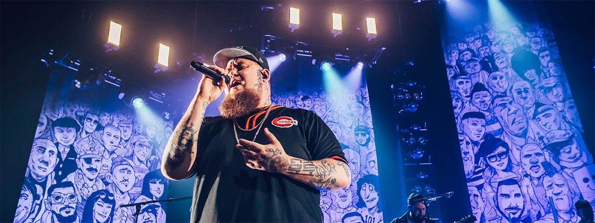 Rag'n'Bone Man - printed backdrop