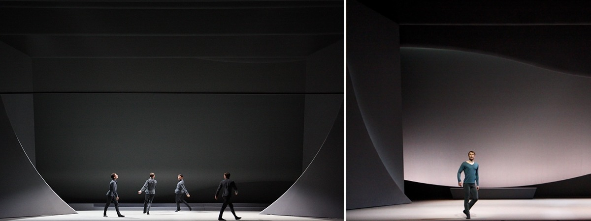 Minimalistic set with mesh fabrics by ShowTex for Swan Lake