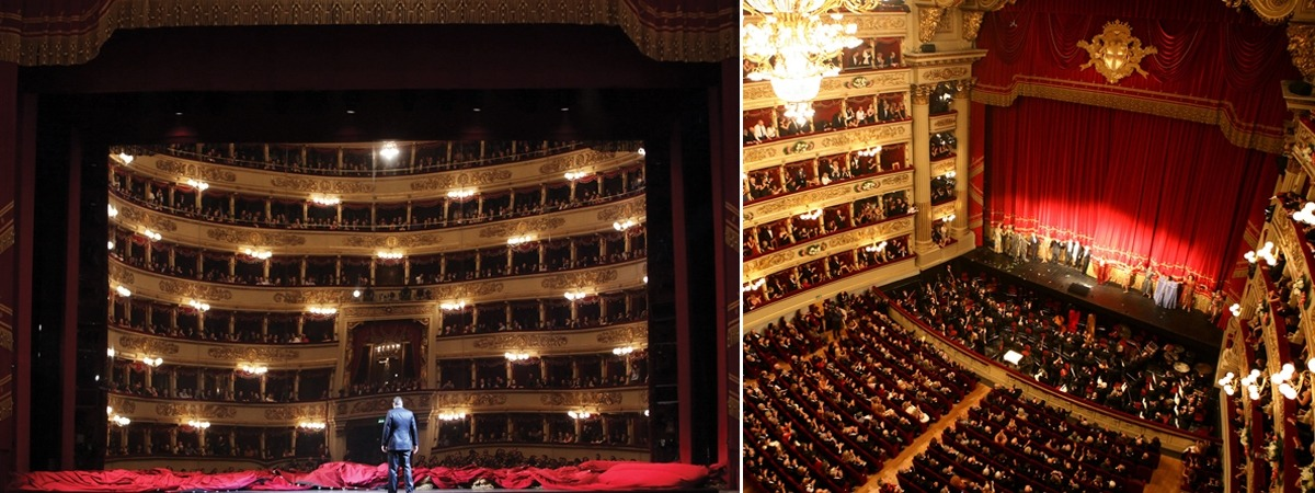 Teatro Alla Scala ft an impressive mirror foil on wheels
