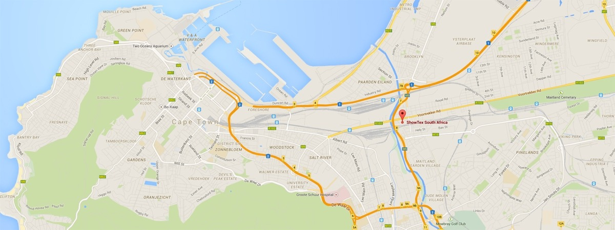 ShowTex South Africa map