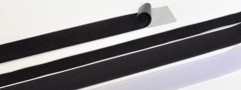 Adhesive hook and loop fastener
