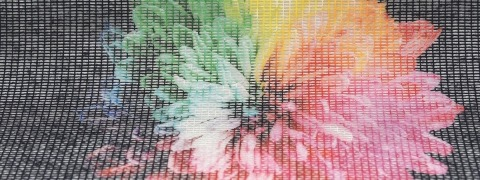 Cotton Mesh Print