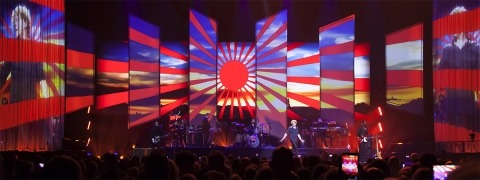 Simply Red on world tour with ShowTex projection screens