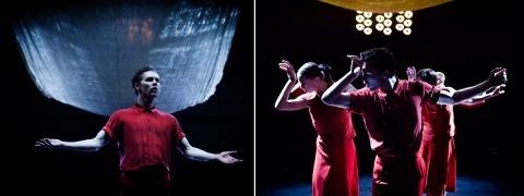 Sunset Logic ft a golden crunch glitter fabric curtain by ShowTex