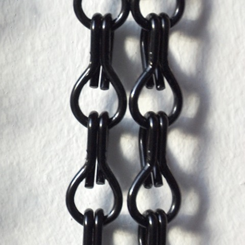 Black chain curtain