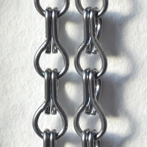 Dark silver chain curtain