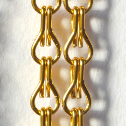 Golden chain curtain